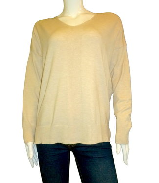 KLD Ribbed V-Neck Sweater
