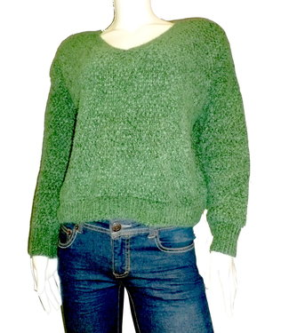 KLD Chenille V-Neck Sweater