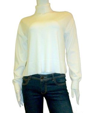 KLD Cropped Turtleneck Sweater