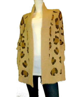KLD Fuzzy Cardigan Sweater