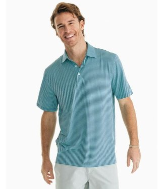 Southern Tide Driver MicroStripe Performance Polo Shirt