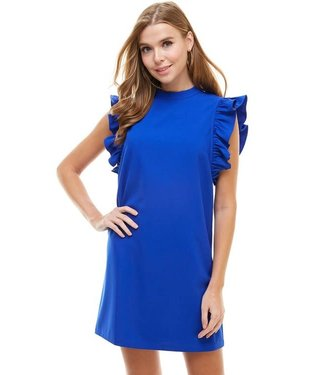 TCEC Ruffled Sleeve Dress