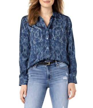 Liverpool Liverpool Snakeskin Blouse