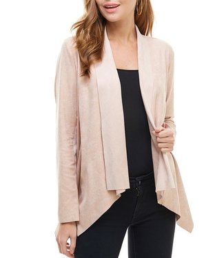 TCEC Draped Faux Suede Jacket