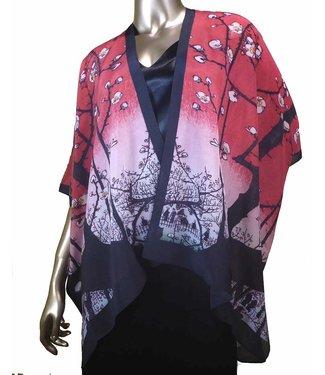 Cocoon House Short Silk Kimono