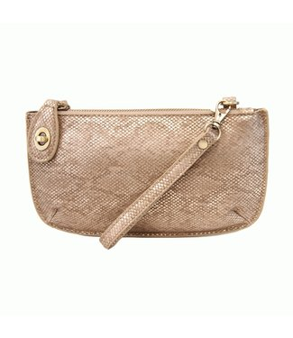 Joy Susan Python Mini Crossbody Wristlet Clutch