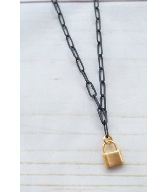 """Virtue Virtue 16"""" Paperclip Charm Necklace"""