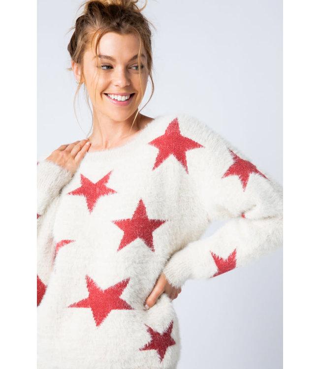 &Merci Starstruck Mohair Sweater
