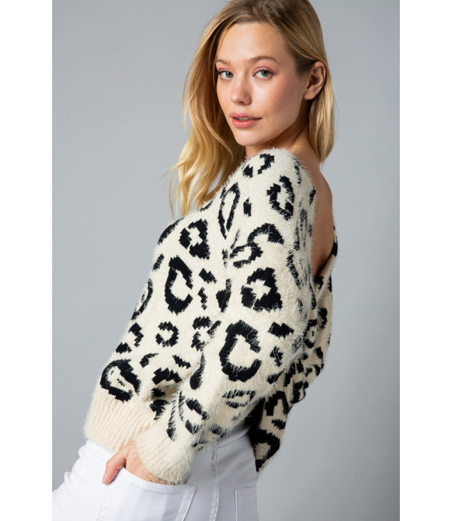 &Merci Leopard Twist Sweater