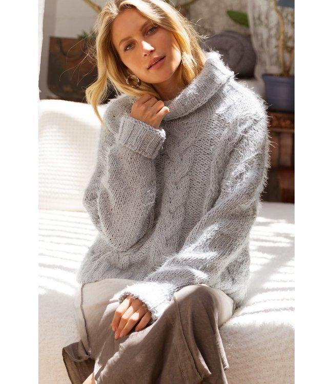 Pol Mohair Turtleneck Sweater