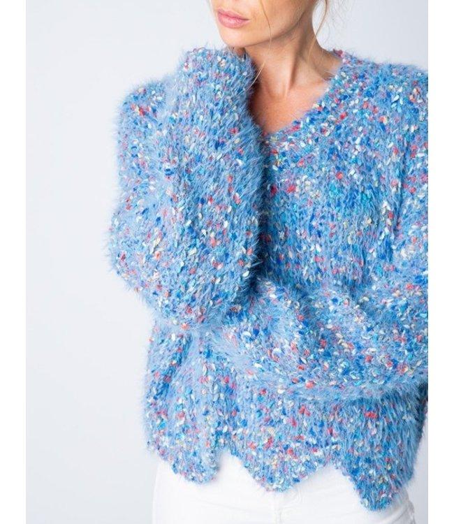 &Merci Confetti Chenille Scallop Sweater