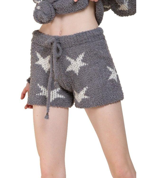 Pol Dazzling Star Fleece Lounge Shorts