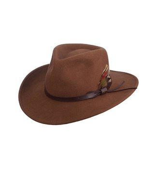 Scala Dakota Crushable Wool Felt Outback Hat