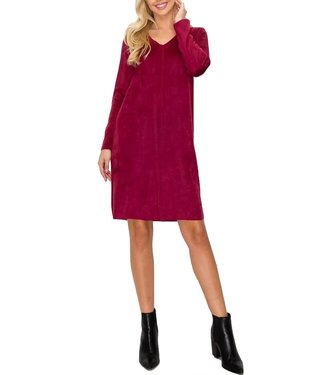 Joh Aurora V Neck Faux Suede Dress w/ Pockets