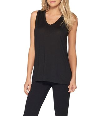Barefoot Dreams Malibu Sleeveless Modal V-neck Tank