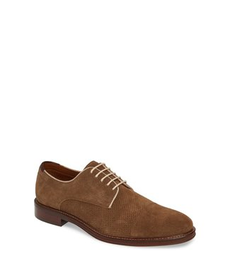 Johnston and Murphy Warner Cap Toe Suede Derby