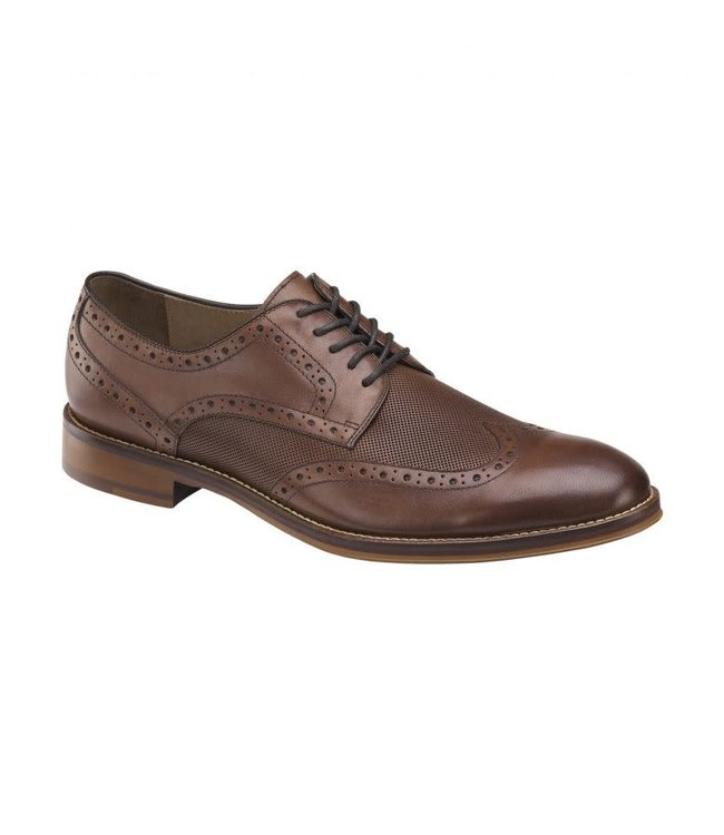Johnston and Murphy Conard Embossed Wingtip Oxford Dress Shoe
