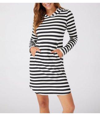 Karen Kane Striped Hoodie Dress