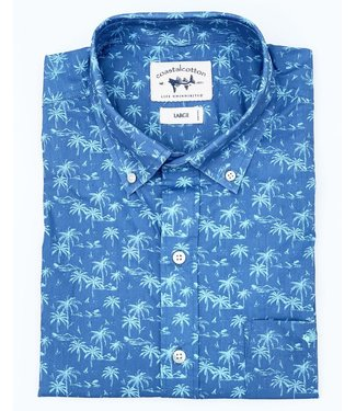 Coastal Cotton Tropical Print Woven Shirt