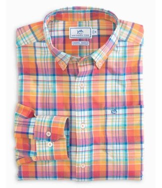 Southern Tide Channel Marker Mixed Plaid Sport Shirt