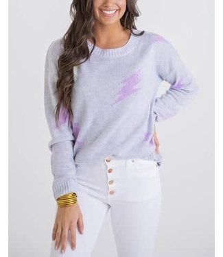 Karlie Thin Lightening Bolt Sweater