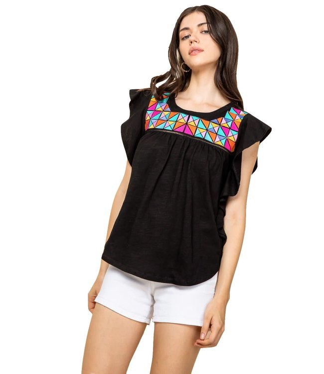 THML THML Embroidered Knit Top
