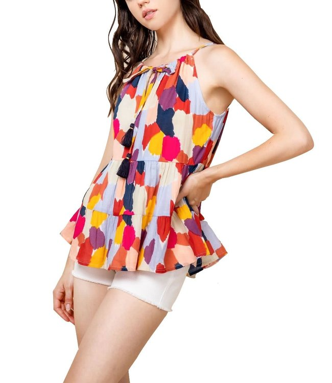 THML Multi Colored Print Top