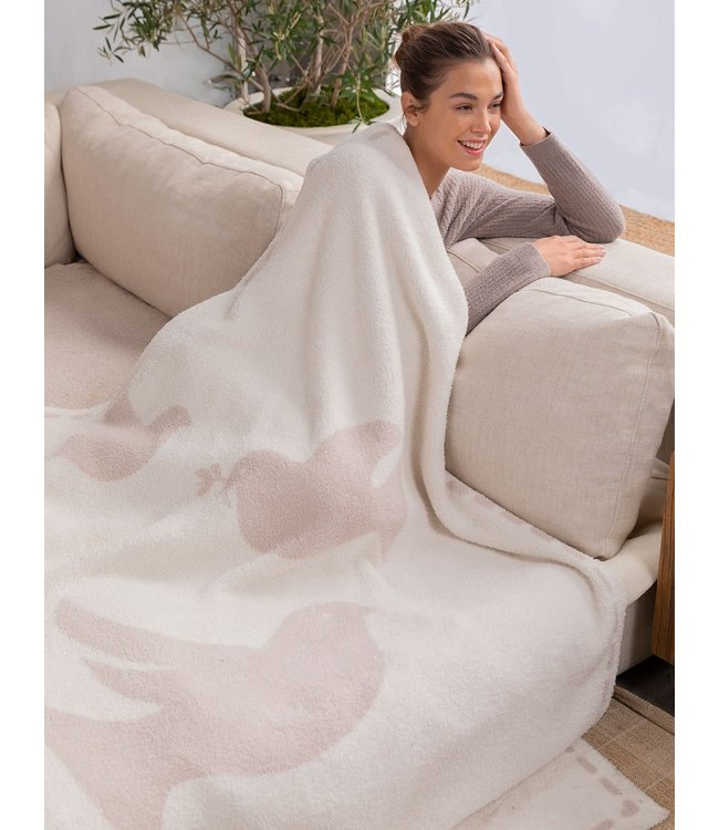 Barefoot Dreams CozyChic Covered in Prayer Dove Blanket