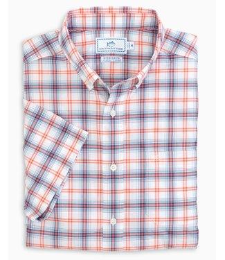 Southern Tide Southern Tide Window Plaid Intercoastal Short Sleeve Sport Shirt