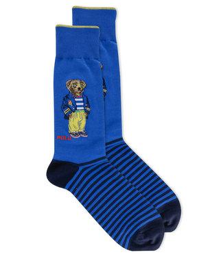 Polo Ralph Lauren Bear Striped Crew Socks 2-Pack