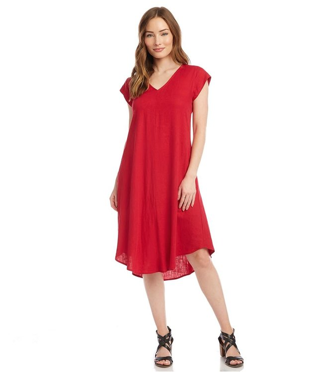 Karen Kane Karen Kane V-Neck Dress w/ Pockets