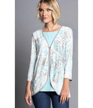 Multiples Multiples Reversible Print Knit Shirt Jacket
