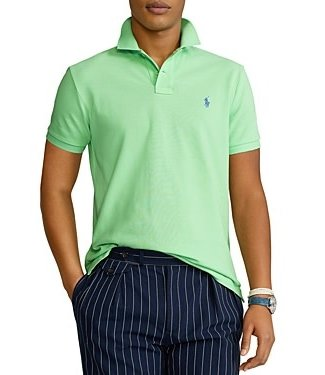 Polo Ralph Lauren Cruise Lime Classic Fit Mesh Polo
