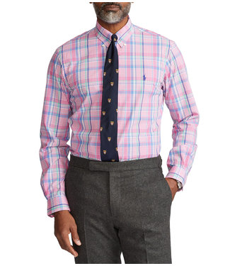 Polo Ralph Lauren Classic-Fit Plaid Poplin Stretch Woven Shirt