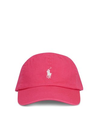 Polo Ralph Lauren Pink Chino Cotton Baseball Cap