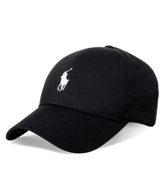 Polo Ralph Lauren Recycled Materials Polo Black Twill Ball Cap O/S