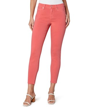 Liverpool Abby Ankle Raw Hem Skinny Jean in Coral