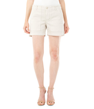 Liverpool Utility Shorts with Flap Pockets in Chalk