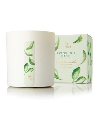Thymes Fresh Cut Basil Poured Candle