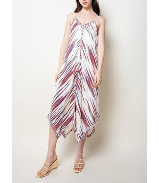 THML Embroidered Strap Long Dress