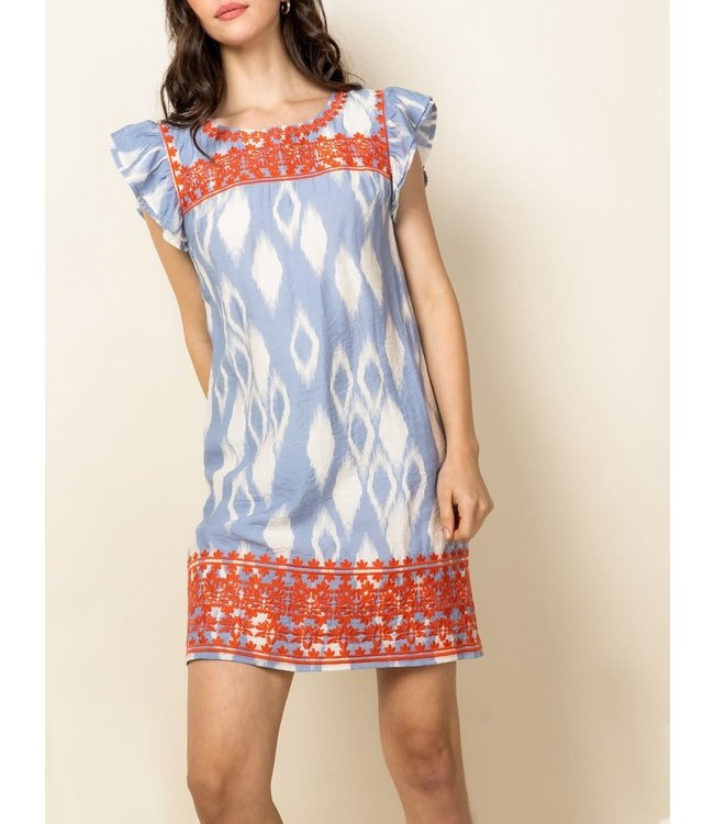 THML Embroidered Pattern Dress