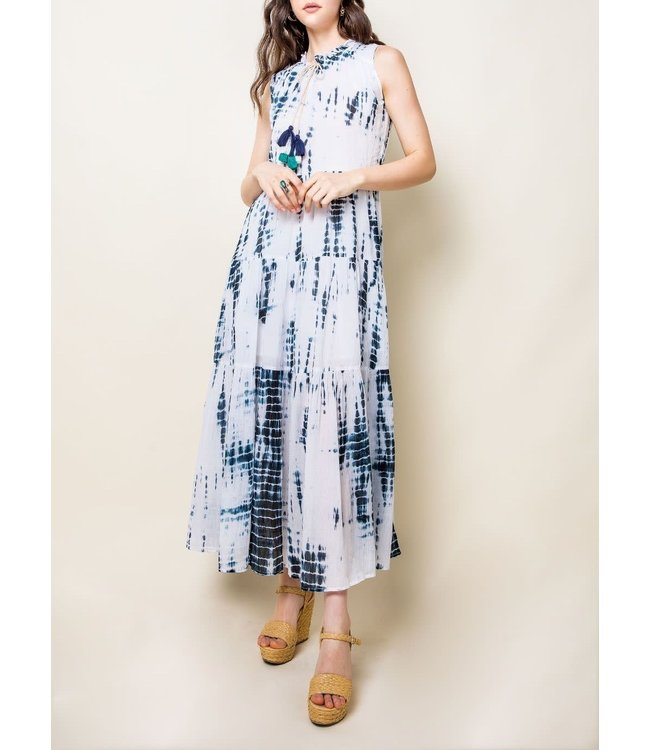 THML Sleeveless Tiered Dress