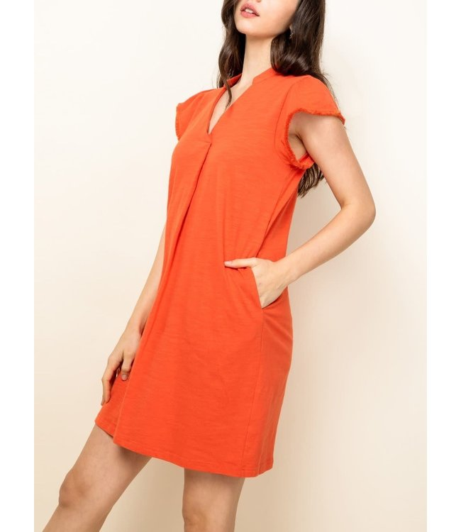 THML V-Neck Shirt Dress