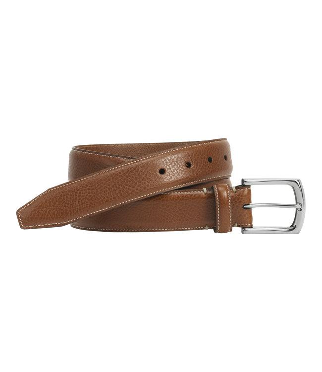 Johnston and Murphy J&M Topstitch Italian Leather Belt
