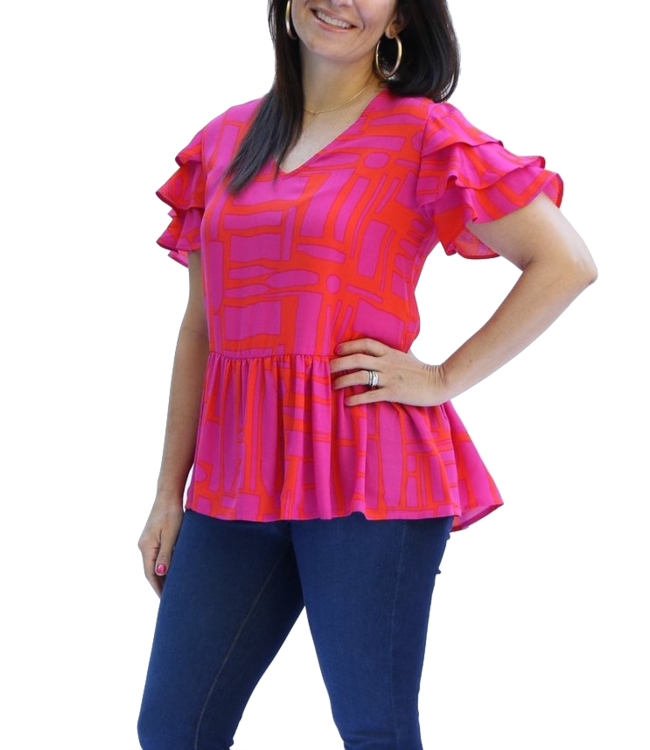 Michelle McDowell Miriam All Squared Away Top