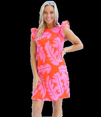 Michelle McDowell Vada Ruffle Shift Dress