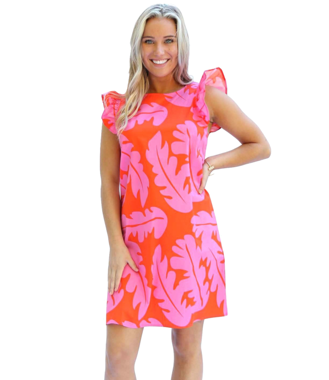 Michelle McDowell Vada Ruffle Shift Dress