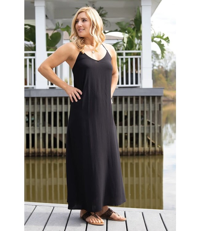 Mary Square Ashley Strappy Maxi Dress