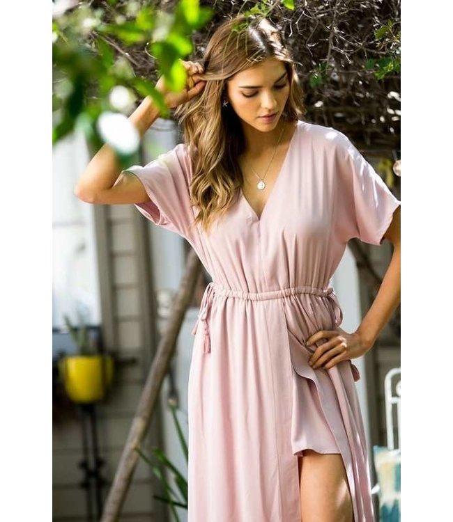 Main Strip Tassel Waist Maxi Dress