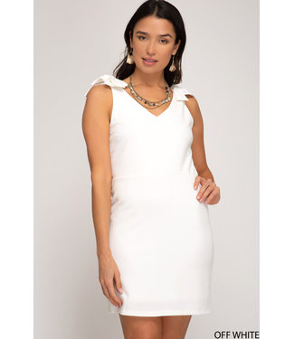 She & Sky Knit Dress with Shoulder Ties